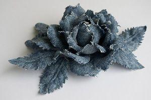 Цветы из джинсовой ткани - Страница 2