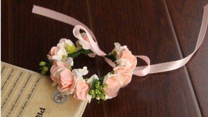 Peach and White Flower Bracelet for Baby Princess. #bracelet #babybracelet #kidsfashion #babystyle #onlinestore #babybraceletindia #girlswear #infant #babyshopmall #pinkblueindia