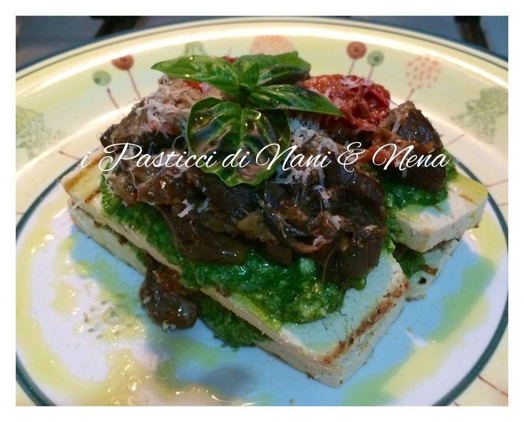Un piattino originale e sfizioso, leggero e volendo potrebbe diventare anche vegano è la lasagnetta di tofu che mi sono inventata e sono rimasta molto sorp