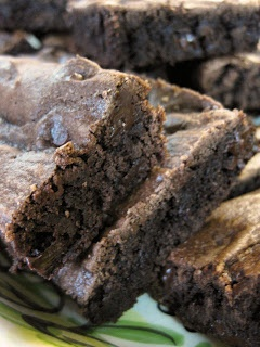 cake mix brownies - when you are out of cocoa but have a chocolate cake mix!!!!