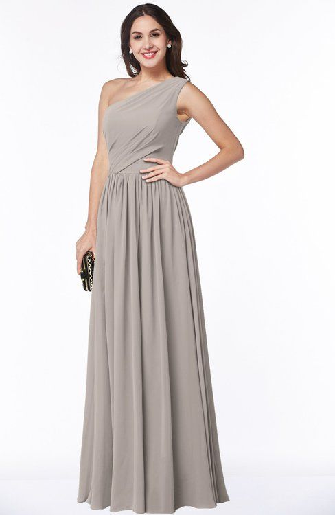 Sharp Green Classic A-line One Shoulder Half Backless Floor Length Pleated Plus Size Bridesmaid Dresses