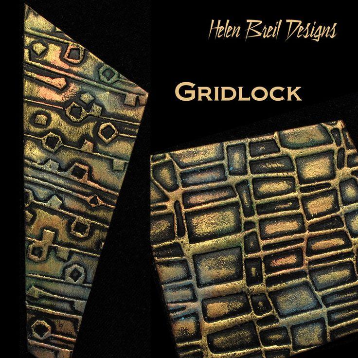 "Texture stamp ""Gridlock"". Visit http://www.helenbreil.com/textures-main.html for more info"