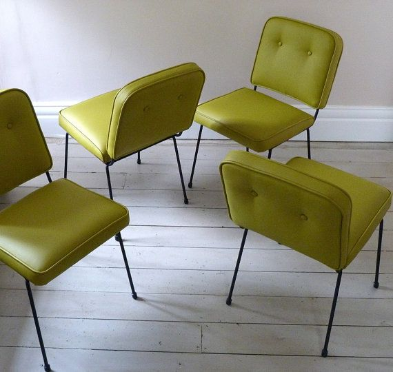 Set of Four 1950s French Cafe Chairs by OrmstonSaintUK on Etsy, £995.00