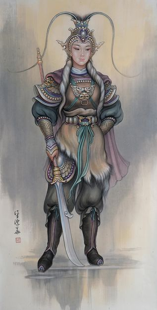 """Fan Leihua"" by Annie Wong Leung Kit Wah - A legendary Turkic princess and woman warrior from the Tang Dynasty."