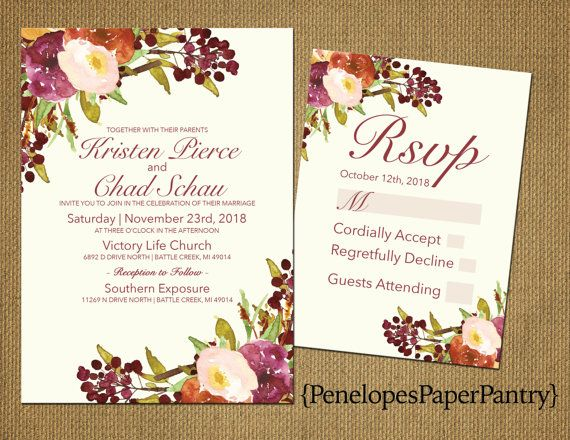 1000+ ideas about Fall Wedding Invitations on Pinterest | Wedding ...