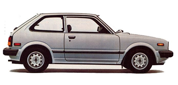 '82 Honda Civic GL Hatchback, second car, 1.5L, 5 speed, a favorite, snappy, great handling & killer mileage