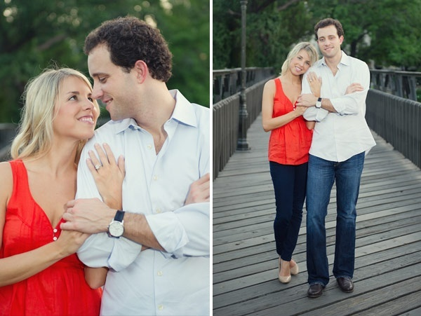 engagement photo outfits.. One bright colored pop