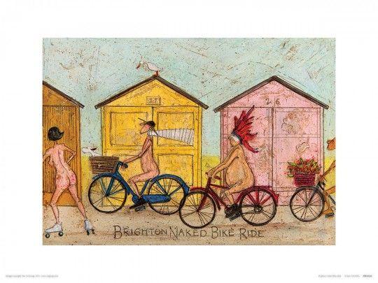 Brighton Naked Bike Ride - reprodukcja
