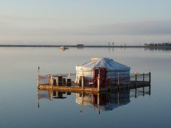 floating yurt Carleton-sur-Mer, Quebec