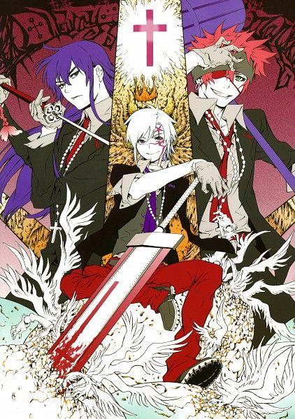 D.Gray-man, Allen Walker, Lavi, Yuu Kanda, Katsura Hoshino