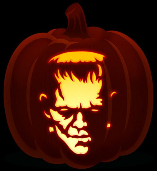 17 best images about halloween on pinterest ghostbusters aliens and frankenstein39s monster for Frankenstein pumpkin carving