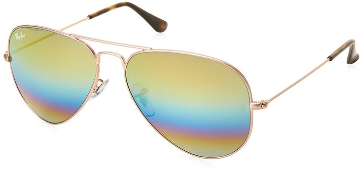 Ray-Ban Large Aviator Sunglasses, Metallic Light Bronze, 62 mm. Case included. Lenses are prescription ready (rx-able). *Metal Frame *Aviator Pilot Style *Crystal Lenses *Iconic *Classic *Ray-Ban *Originally designed for U.S. aviators in 1946.