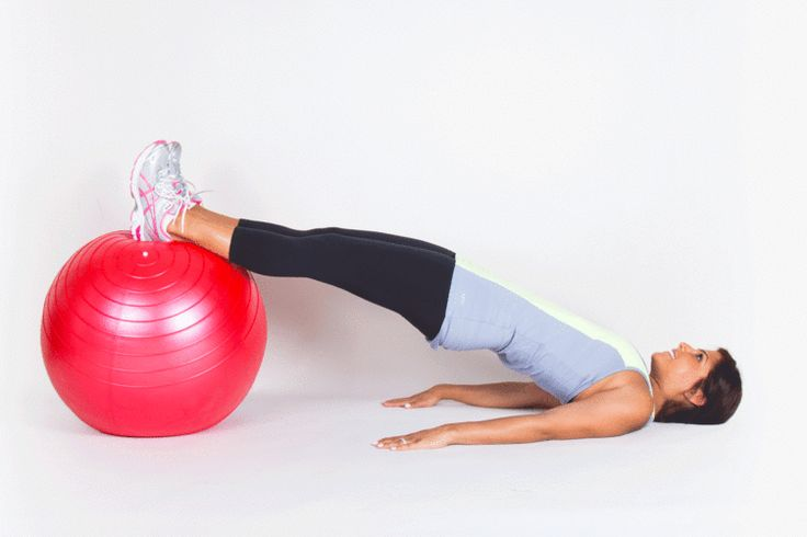 4. Hamstring Curl #stabilityball #workouts #fitness http://greatist.com/fitness/workout-stability-ball-exercises