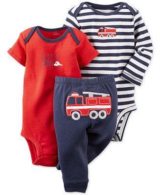 Carter's Baby Boys' 3-Piece Fire Truck Set - Kids & Baby - Macy's