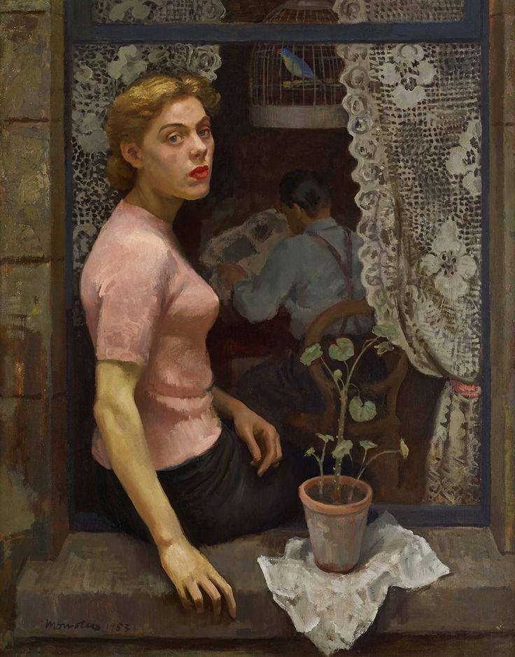 Woman in the Window, 1953 by Alberto Morrocco (Scottish 1917-1998)