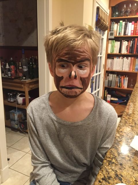Full monkey makeup from Rob.