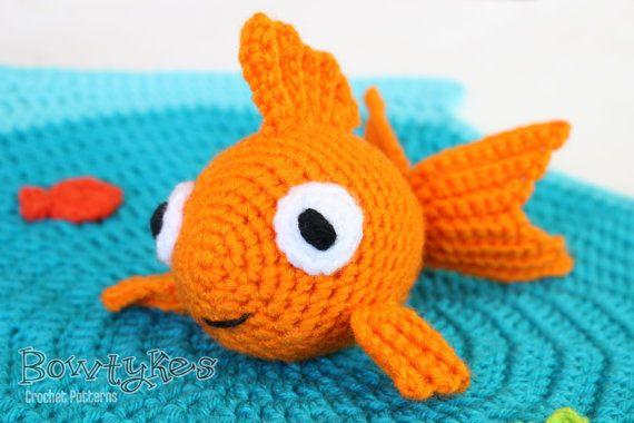 Free Amigurumi Goldfish Pattern : Goldfish Lovey CROCHET PATTERN instant download - blankey ...
