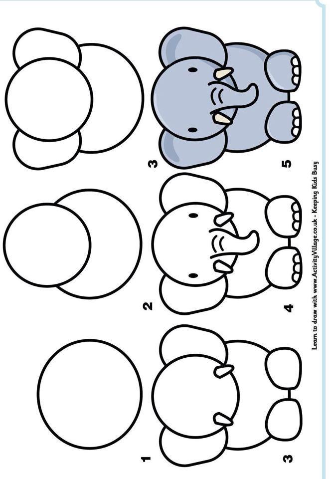 How To Draw A Cartoon Tiger Art For Kids Hub Mykinglist Com Dessin D Elephant Dessin Elephant Dessin Facile Animaux