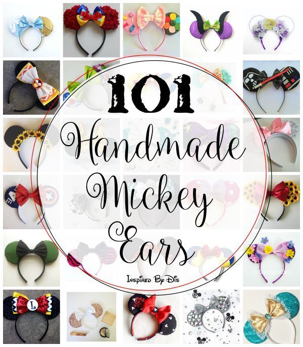 101 Handmade Mickey Ears and links to purchase them