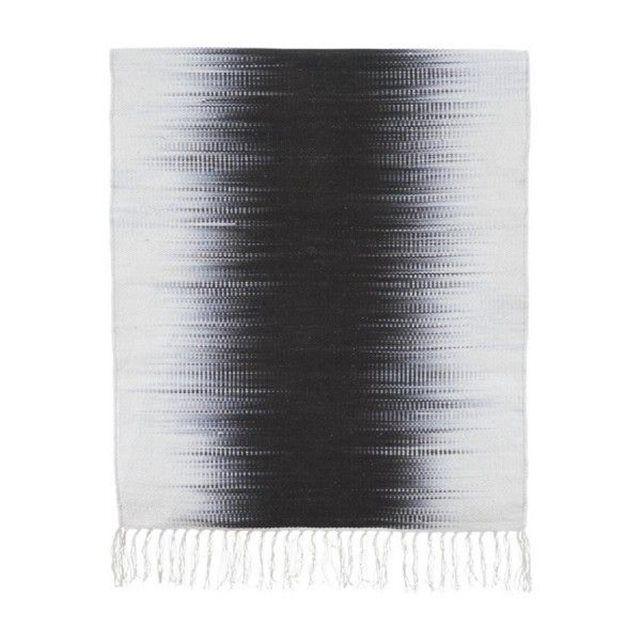 Tapis House Doctor tie dye gris Electric 90 x 200 cm  Coton 90 x 200 cm