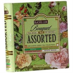 Denne dåse med flot blomster motiv er designet som en bog. Man åbner dåsen som en bog, og indeni er der tebreve med lækker te. Når teen er drukket, kan dåsen bruges til opbevaring af andre ting, eller bare til pynt.