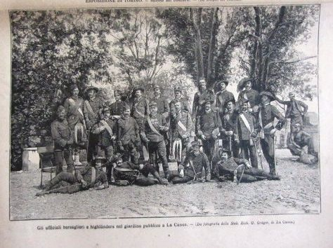 Seaforth Highlanders and Italian troops. Canea 1897.Photograph from an Italian magazine.