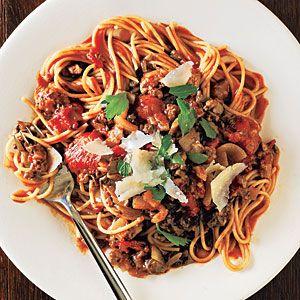 October: Mushroom Bolognese - Cooking Light Magazine 2010 Best Recipes - Cooking Light