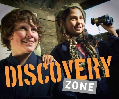 The Discovery Zone | Australian War Memorial. Cost:Free Play zone where children can dress up and explore. Includes submarine, army trench and helicopter.