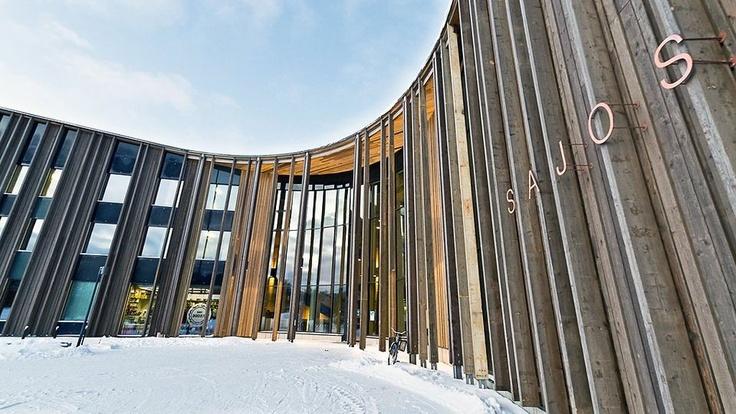 Sami Sajos museum, Inari Finland.  Shape inspired by Northern Lights.