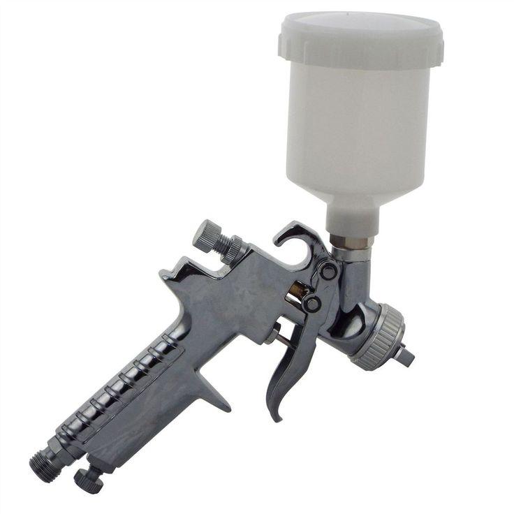 Mini HVLP Smart Repair Gravity Spray Gun 0.8mm For Solvent or Water Based Paint