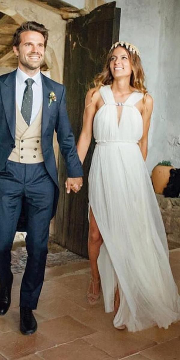 21 Best Of Greek Wedding Dresses For Glamorous Bride | BOHO