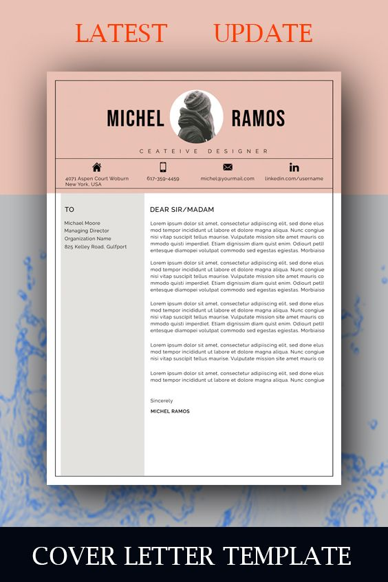 Professional resume template instant download MS word resume