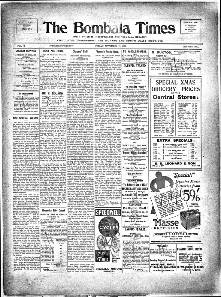 Bombala Times (NSW) - Australian Newspapers - MyHeritage
