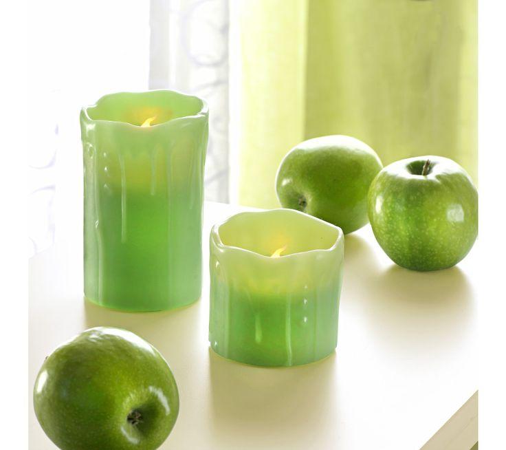 2 LED svíčky s jablečnou vůní | vyprodej-slevy.cz #vyprodejslevy #vyprodejslecycz #vyprodejslevy_cz #home #homedecor #led #candles