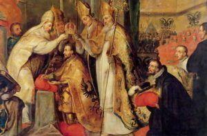 La Coronación de Carlos V, Emparador del Sacro Imperio Romano.