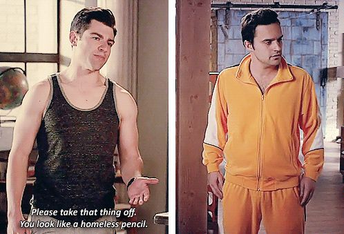 "When Nick had questionable dress sense. | 28 ""New Girl"" Quotes Guaranteed To Make You Laugh Every Time"