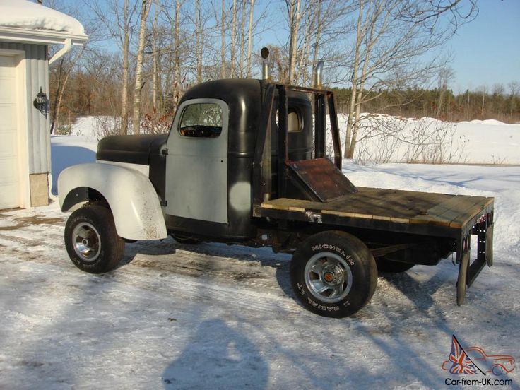 Old Trucks With Stacks Flat Bed Truck Pickup 4x4