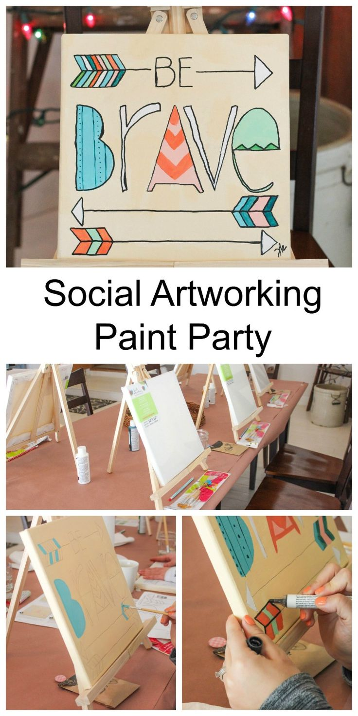 Learn How to Throw a Social Artworking Paint Party with fun designs and super easy instructions. This program gives you the tools you need to get started.