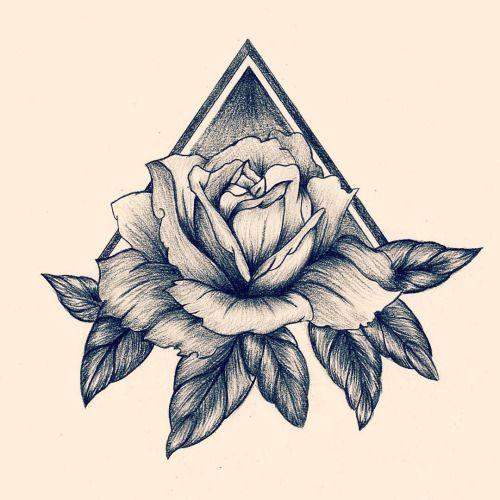 tatto tatuaje triangulo con rosa - Buscar con Google