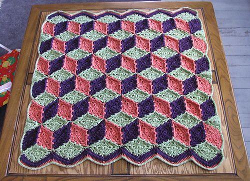 Ravelry Baby Blocks Crocheted Afghan Pattern By Purple