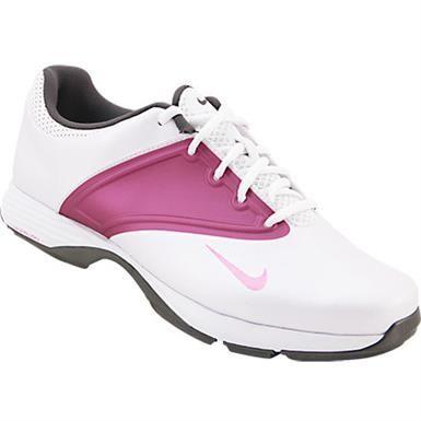 Nike Lunar Saddle Golf Shoes - Womens White Metallic Purple Black