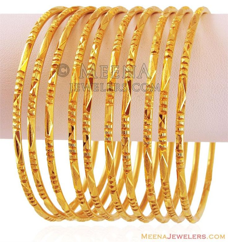 22k Machine Bangles Set (10PC) ( Set of Bangles )
