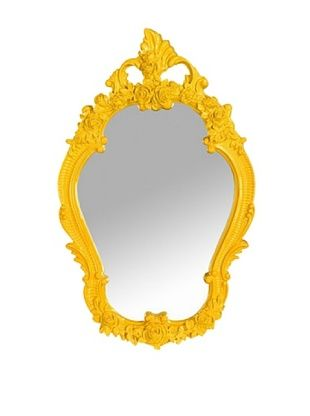 Floral Mirror, Yellow