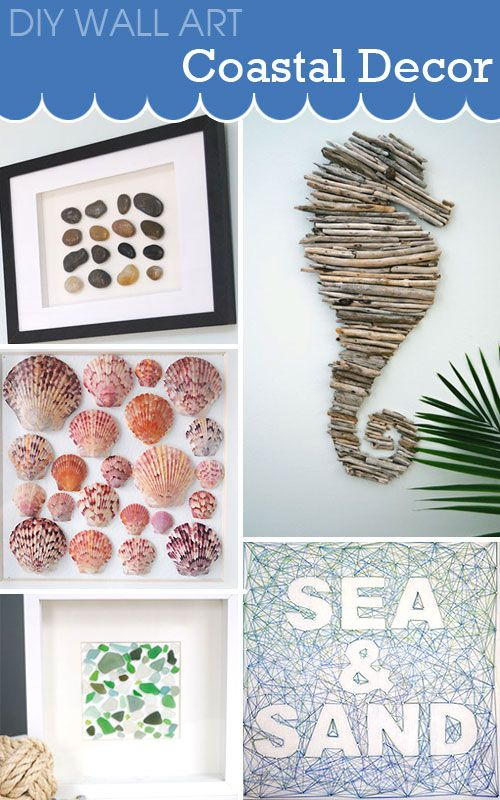 Great DIY Projects To Make Unique Wall Art For Your Coastal Decor Home