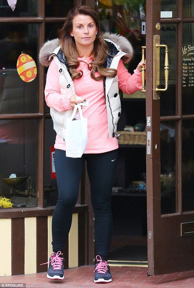 Back to reality: Coleen Rooney treated herself to a trip to the hairdresser for a bouncy b...