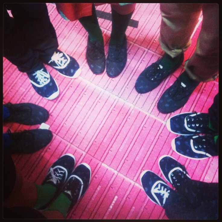 Our new shoe range backstage at #iDFW ....In store soon, along with Winter 13! Made incollaboration with @Commando-M Limited