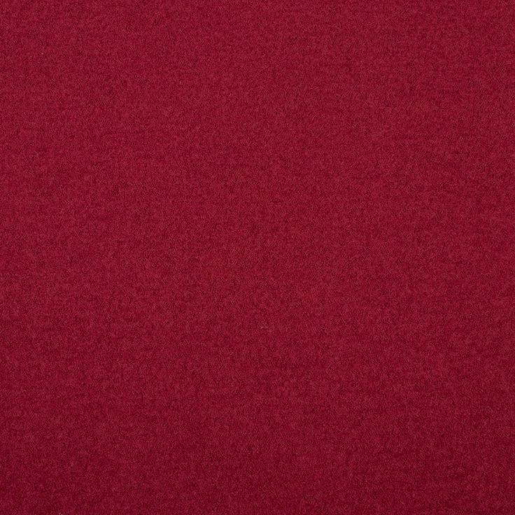 Plain Wool Poly Boiled Coat Fabric. Cranberry.
