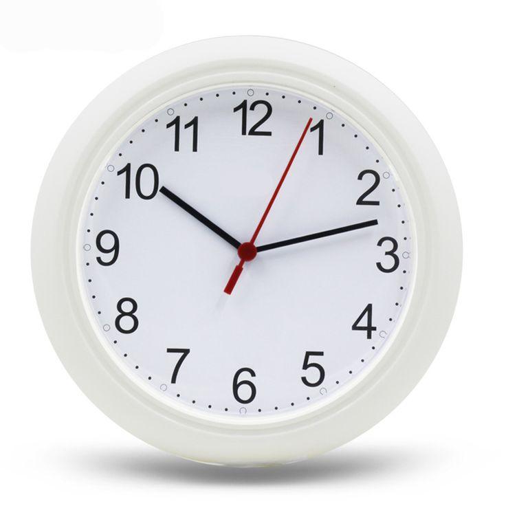 Cheap Wall Clock Home Decor 25cm Digital Quartz uhr Plastic Reloj de pared wanduhr 10 Inch Transparent Simple Clocks