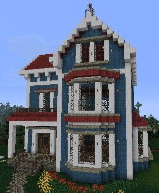 Spanish Villa Minecraft : spanish, villa, minecraft, Basic, Minecraft, House, Houses, Blueprints,, Houses,