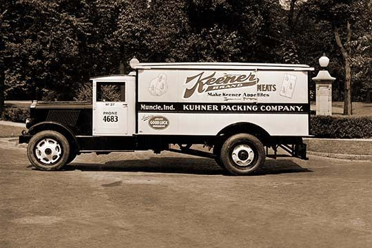 Keener Brand Meets, Kuhner Packing Co. Delivery Truck